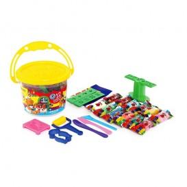 خمیر بازی سطلی 12 رنگ آریا با DVD مدل 1069