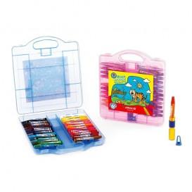 پاستل 24 رنگ کیفی پلاستیکی آریا مدل 2031