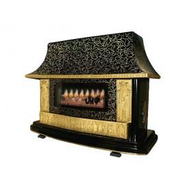 بخاری شومینه کلاسیک ۳ کوپال توانکاران مدل مشکی طلایی چروک