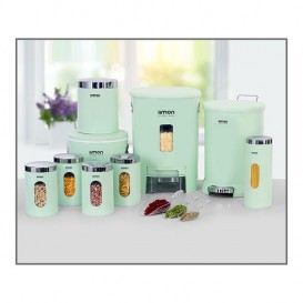 سرویس آشپزخانه 9 پارچه چهارگوش لیمون صنعت سازان کد 13160