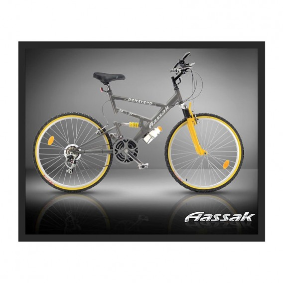 دوچرخه کوهستان آساک 26 دماوند دولوله ۲۱ سرعته تنه کمک فنر Aassak 26-21 Suspension