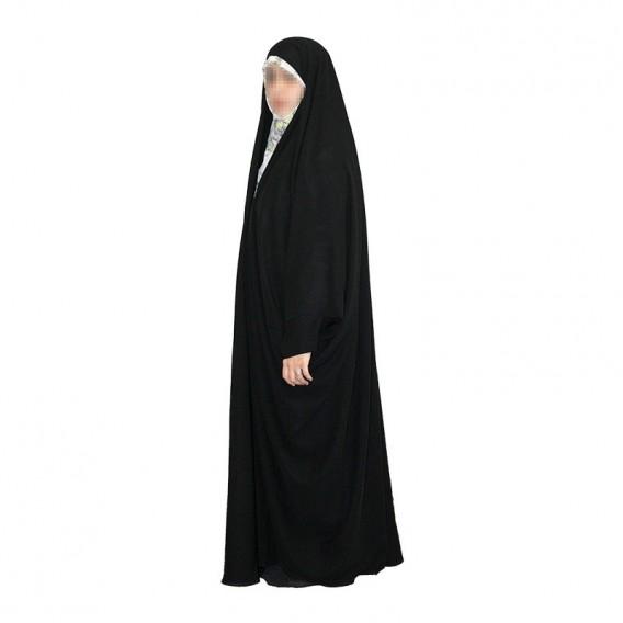 چادر جده عبای عربی با پارچه چادر مشکی حریر اسود ایرانی