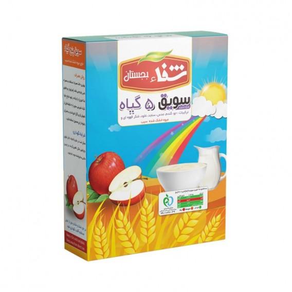 سویق کودک 5 گیاه شفا با میوه سیب 200 گرمی رؤیای سلامت