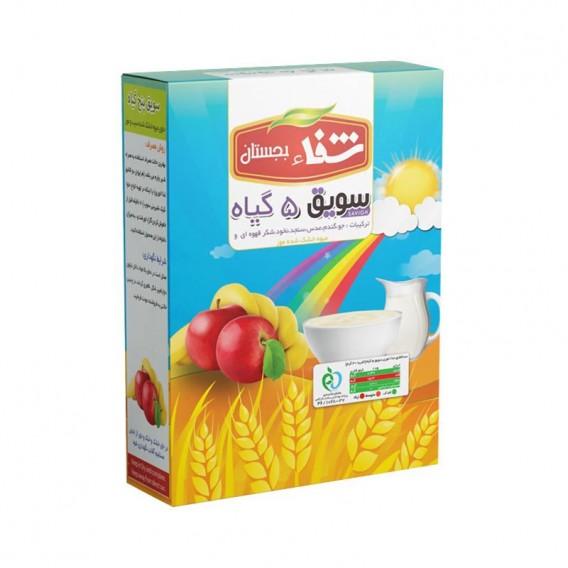 سویق کودک 5 گیاه شفا با میوه سیب و موز 200 گرمی رؤیای سلامت