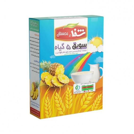 سویق کودک 5 گیاه شفا با میوه آناناس 200 گرمی رؤیای سلامت