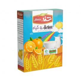 سویق کودک 5 گیاه شفا با میوه پرتقال 200 گرمی رؤیای سلامت