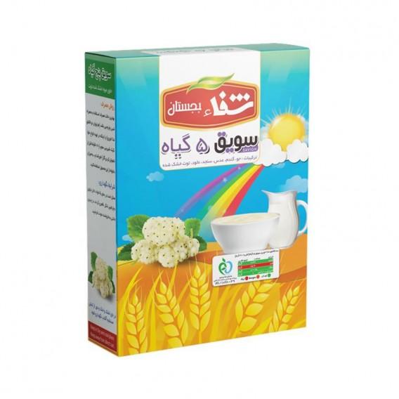 سویق کودک 5 گیاه شفا با توت خشک 200 گرمی رؤیای سلامت