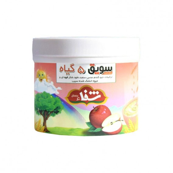 سویق کودک 5 گیاه شفا با میوه سیب 400 گرمی رؤیای سلامت