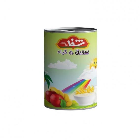 سویق کودک 5 گیاه شفا با میوه سیب و موز قوطی 170 گرمی رؤیای سلامت
