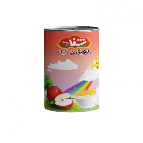 سویق کودک 5 گیاه شفا با میوه سیب قوطی 170 گرمی رؤیای سلامت