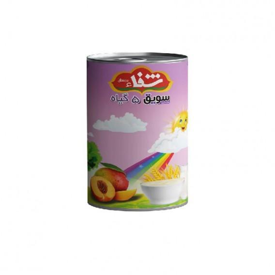 سویق کودک 5 گیاه شفا با میوه هلو قوطی 170 گرمی رؤیای سلامت