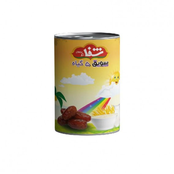 سویق کودک 5 گیاه شفا با خرما قوطی 170 گرمی رؤیای سلامت