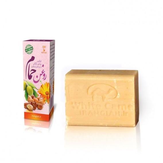 صابون سنتی شیر شتر ساده ایران گیاه با روغن حمام