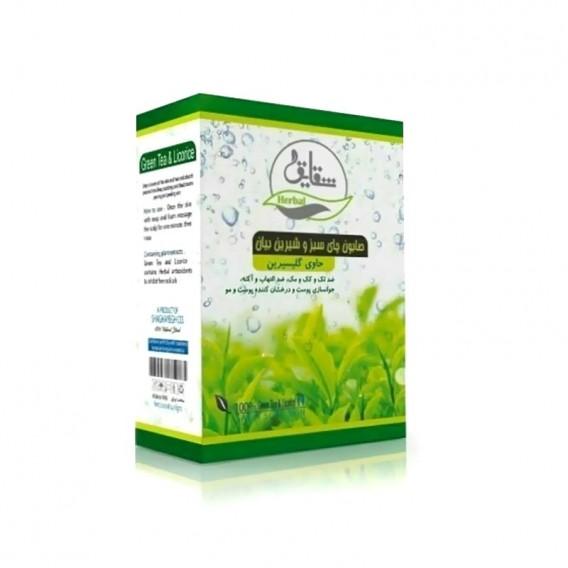 صابون سنتی چای سبز و شیرین بیان شقایق