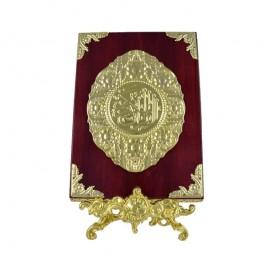قاب قرآن چوب و فلز به همراه پایه
