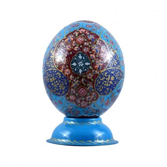 آیه «و ان یکاد...» بر روی تخم شترمرغ - فیروزه ای