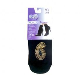 جوراب زنانه مچی دوربع تزئین شده طرح دار دستینه