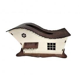 جادستمالی کاغذی چوبی طرح کلبه متوسط بالسا