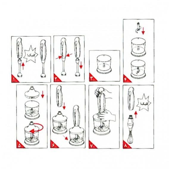 گوشت کوب برقی پارس خزر | بلندر دستی مدل سالسا | Salsa