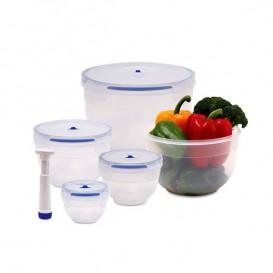 ظرف نگهدارنده غذا پارس خزر دایره ای 5 تکه (7 لیتر)