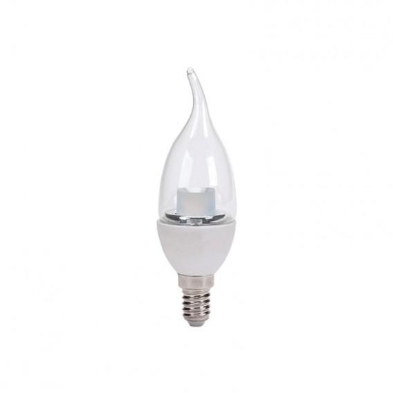 لامپ ال ای دی 6 وات شمعی اشکی استوانه شفاف