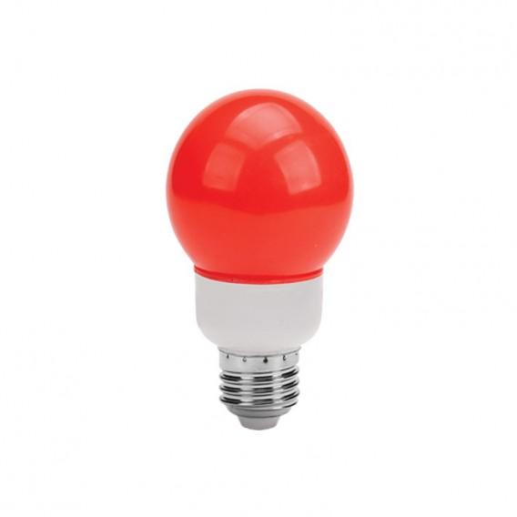 لامپ ال ای دی تزئینی 1 وات حبابدار قرمز