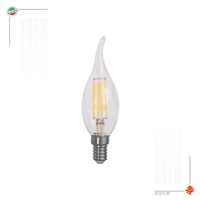 لامپ ال ای دی 4 وات شمعی اشکی فیلامنتی
