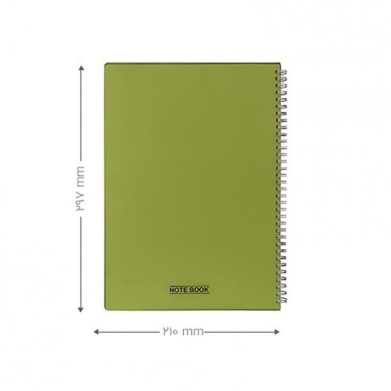 دفتر A4 شفاف 80 برگ پاپکو مدل A4-603