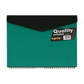 دفتر 80 برگ دکمه دارA4 پاپکو مدل A4-607
