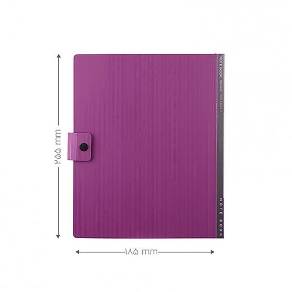 دفتر دکمه دار متالیک 100 برگ پاپکو مدل NB-644BC