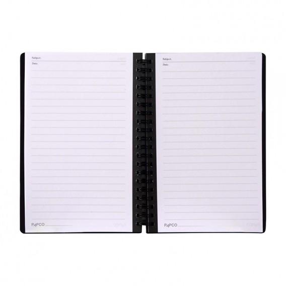 دفتر یادداشت یک خط متالیک 100 برگ پاپکو مدل NB-647BC