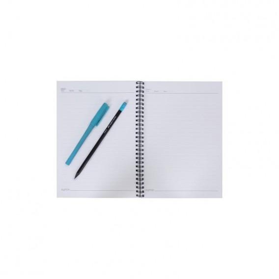 دفتر 80 برگ طرح دار جلد مقوایی پاپکو مدل NB-660P