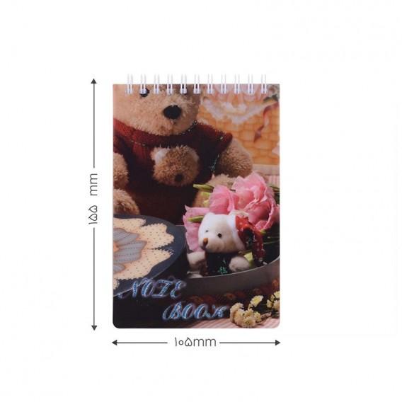 دفتر یادداشت فانتزی طرح دار پاپکو مدل NB-649-G