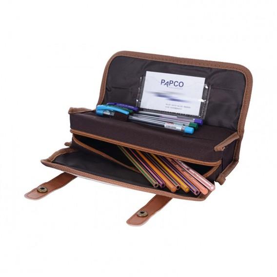 جامدادی زیپی چمدانی پاپکو مدل ZPC-18