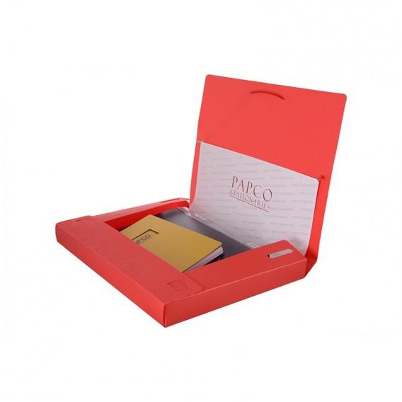 کیف مدارک کش دار راه راه مات پاپکو مدل S501-3R