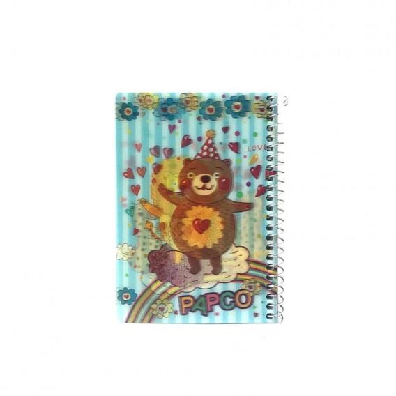 دفتر یادداشت 100 برگ سه بعدی فنر گرد پاپکو مدل NB-6703D-2D