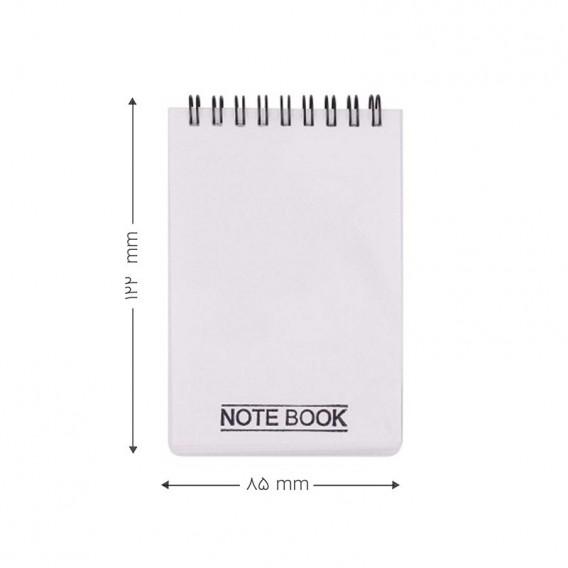 دفتر یادداشت سیم از بالا 100 برگ کج راه پاپکو مدل NB-616