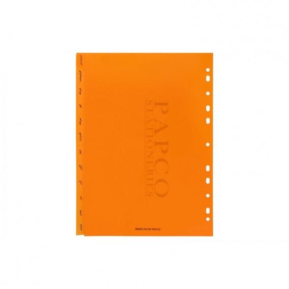 ایندکس سالیانه با چاپ ماه های سال پاپکو مدل A4-06