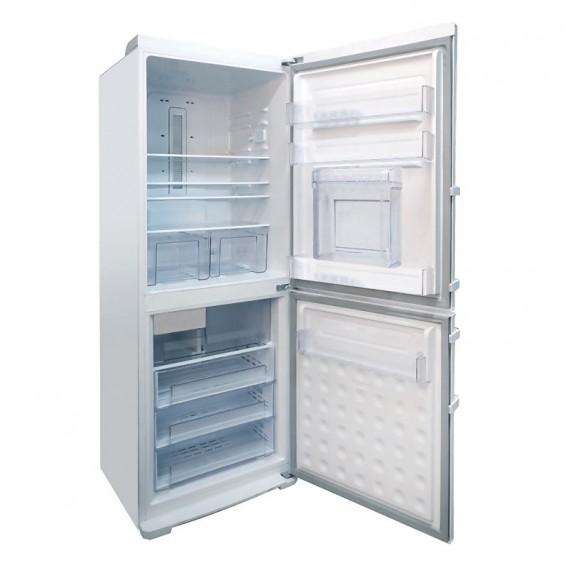 یخچال فریزر الکترواستیل مدل الکتروالتیما 35 فوت ES35 سفید فریزر پایین با یخ ساز اتوماتیک و درب بار