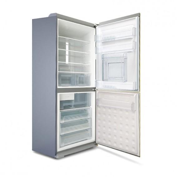 یخچال فریزر الکترواستیل مدل الکتروالتیما 35 فوت ES35 تیتانیوم فریزر پایین با یخ ساز اتوماتیک و درب بار