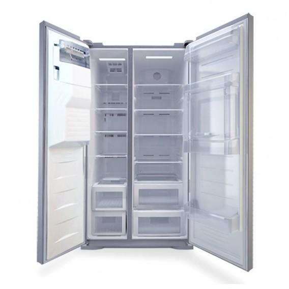یخچال فریزر هم بر الکترواستیل مدل الکترورویال ES51 ساید بای ساید تیتانیوم با یخساز اتوماتیک