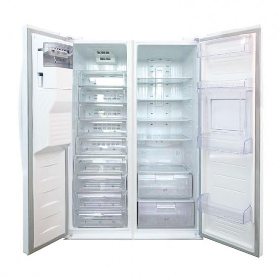 یخچال فریزر دوقلو الکترواستیل مدل 23 فوت ES23 سفید با یخساز اتوماتیک و درب بار