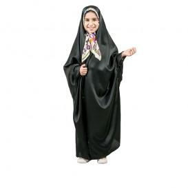 چادر دانشجویی دخترانه حریر اسود